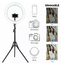 """New 18"""" LED Ring Light Kit with Stand Dimmable 5500K for Makeup Phone Camera"""