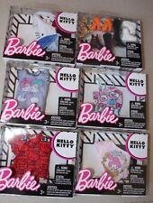 Barbie Sanrio HELLO KITTY Fashions LOT Tops Accessories NEW