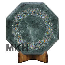 Marble Side Table Inlay Coffee Table Top Gems Stones Vintage Marquetry Italian