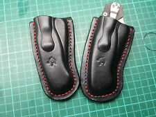 Leather pancake sheath for  Spyderco Paramilitary 2