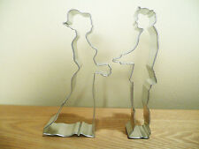 Bride and Groom 2 piece Cookie Cutter Set Steel Plated Wedding Fondant Marriage