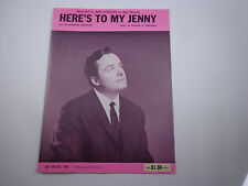 *  TV HOST:MIKE DOUGLAS=HERE'S TO MY JENNY -SHEET MUSIC-VINTAGE-unused