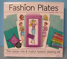 Fashion Plates Design Set Mix & Match Fashion Drawing Set Ages 6+ NIB SL0616