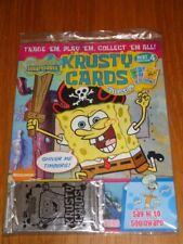 KRUSTY CARDS COLLECTION #4 SPONGEBOB SQUAREPANTS UK MAGAZINE WITH CARDS =