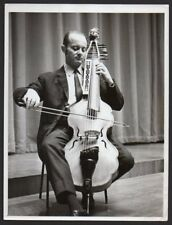 JANOS LIEBNER w. BARYTON 1969 Photo CELLIST Hungarian musician cello player