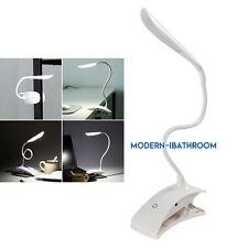 Flexi LED Reading Light Clip-on Bed Beside Table Desk Lamp USB Home Office Night