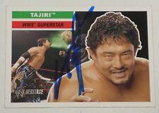 Yoshihiro Tajiri Signed 2005 Topps Heritage WWE Card #28 Pro Wrestling Autograph