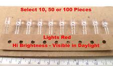 Avago HLMP-ED16-TWODD Clear to Red Hi Brightness 7200mcd LED MBF015L