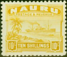 More details for nauru 1924 10s yellow sg39a fine very lightly mtd mint