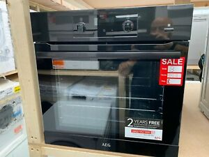 AEG SteamBake BES356010B Electric Steam Single Oven - Black - CHECK PHOTOS