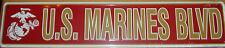 USMC US Marines BLVD NOVELTY STREET SIGN Gameroom Bar Garage USA