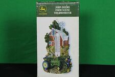 John Deere Farm Scene Wall Thermometer Hanging Collectible Barn Windmill Tractor