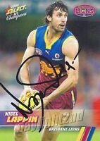 ✺Signed✺ 2008 BRISBANE LIONS AFL Card NIGEL LAPPIN