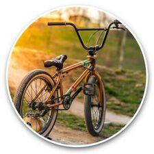 2 x Vinyl Stickers 30cm - BMX Bike Sunset Park Jumps  #44407