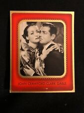 Joan Crawford Clark Gable 1930s Cigarette Card Movie Poster Hollywood Vintage