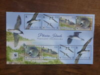 PITCAIRN Is 2016 WWF BIRDS 8 STAMP MINI SHEET MINT STAMPS