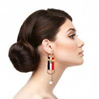 Striped Bee Drop Earrings