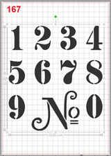 House Door Street Number Stencil MYLAR A4 sheet strong reusable Craft Art DECO