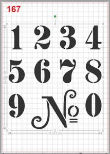 House Door Street Number Stencil MYLAR A4 sheet strong reusable Craft Art DECO