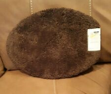 Threshold Standard Oval Toilet Seat Lid Cover - Brown - NEW