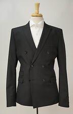 THE KOOPLES Black Wool Double Breasted Peak Lapel Blazer Jacket 40 R