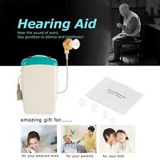 New Hearing Aid Sound Amplifier for Severe Hearing Loss Voice White & Green V1K1