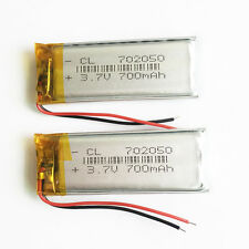 2pcs 700mAh 3.7V Lipo Rechargeable Battery cells for MP3 DVD GPS Camera 702050
