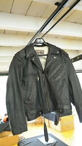 Genuine Harley Davidson Men's 3XL Leather Bomber Embossed Jacket #3