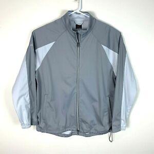 Greg Norman Grey Golf Premium Full Zip Jacket Size Men's Large
