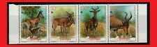 ZAYIX - 1991 Mozambique 1145 MNH - Wild Animals strip of 4 / WWF