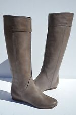 New Chloe Heloise Tall Calfskin Grey Gray Leather Boots Size 35 / 5 $995+