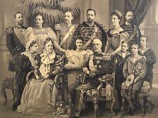 19th Century King Oscar Norway Sweden Royal Family Portrait CHROMOLITHOGRAPH