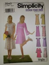Simplicity 5645 Size 7-8 10 Girls' Design Your Own Pullover Dress