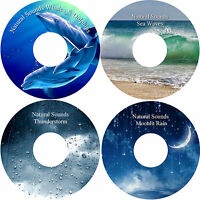 Natural Sounds 4 CDs Relaxation Stress Anxiety Relief Sleep Aid Healing Calming