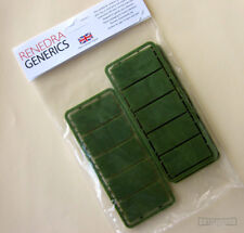 Renedra 25mm x 50mm Cavalry Green Wargame Bases - Dark Age & Historical Games