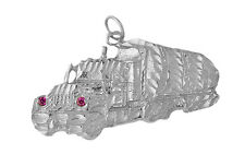 Prince of Diamonds Exclusive 18 Wheeler Truck W rubies 925 Sterling Silver charm