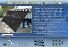 RV Awning Shade Motorhome Trailer Black Awning Shade Complete Kit 8x20