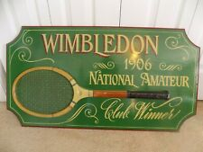 Wimbledon 1906 National Amateur Club Winner Vintage Style Solid Wooden Sign