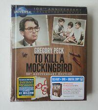 New To Kill a Mockingbird Blu-ray DVD 2-Disc Set Book 50th Anniversary Edition