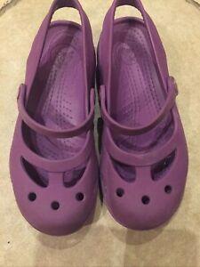 Purple Crocs Size 1