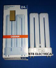 Osram Dulux F 24 Watt 2G10 4 Pin Cap Cool White 840