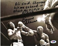 Ernie Shavers vs Muhammad Ali 8x10 photo E. Shavers Extensive Autograph PSA/DNA