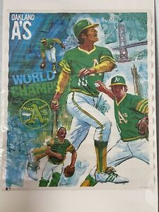 "1973 Oakland A's Athletics Vintage ProMotions Poster 23"" x 28"" NEW World Series"