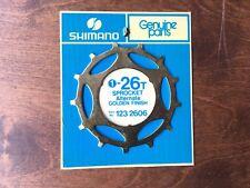 NOS NIP Shimano Dura Ace 5 Speed, 26t Alternate (Skip tooth) freewheel Cog, GOLD