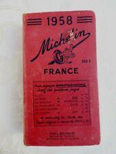 Ancien Livre Guide Michelin Année 1958