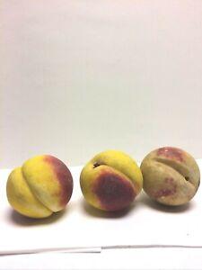 Vintage Italian Stone Fruit 3 Peaches