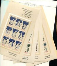 UNITED STATES STAMP SUPPLEMENT 1986 PRESIDENT 2 SET LOT WITH FOLDERS MNH