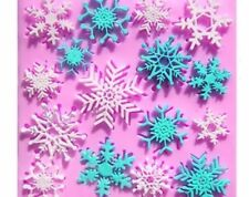 Snowflakes Lace 16 cavity Silicone Mold for Fondant, Gum Paste, Crafts NEW