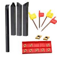 18x 12mm Lathe Turning Tool Holder Boring Bar + DCMT0704 Carbide Inserts Kit Set