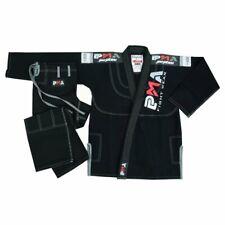 PMA Pearl Weave Jiu Jitsu Gi Black 450gsm Uniform Martial Arts BJJ Suit Kimono